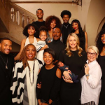 Eddie Murphy poses with his 10 children in a Christmas family photo. Check out his newest addition, Max! - BabyNames.com Celebrity Baby Blog
