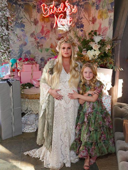 Did Jessica Simpson reveal her baby girl's name at a recent baby shower? Find out why fans think so! - BabyNames.com Celebrity Baby Blog