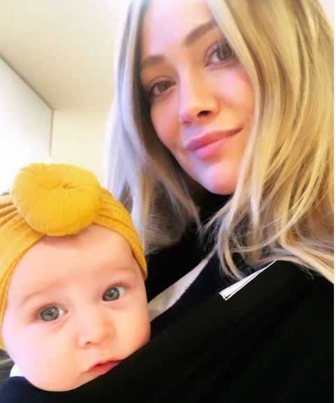 Hilary Duff shared a personal video from her water birth of daughter Banks. Watch her newborn hug her! - BabyNames.com Celebrity Baby Blog