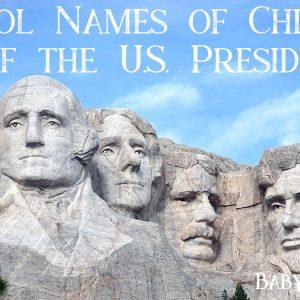 Children's Names of U.S. Presidents