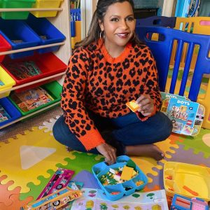 woman in child's play room