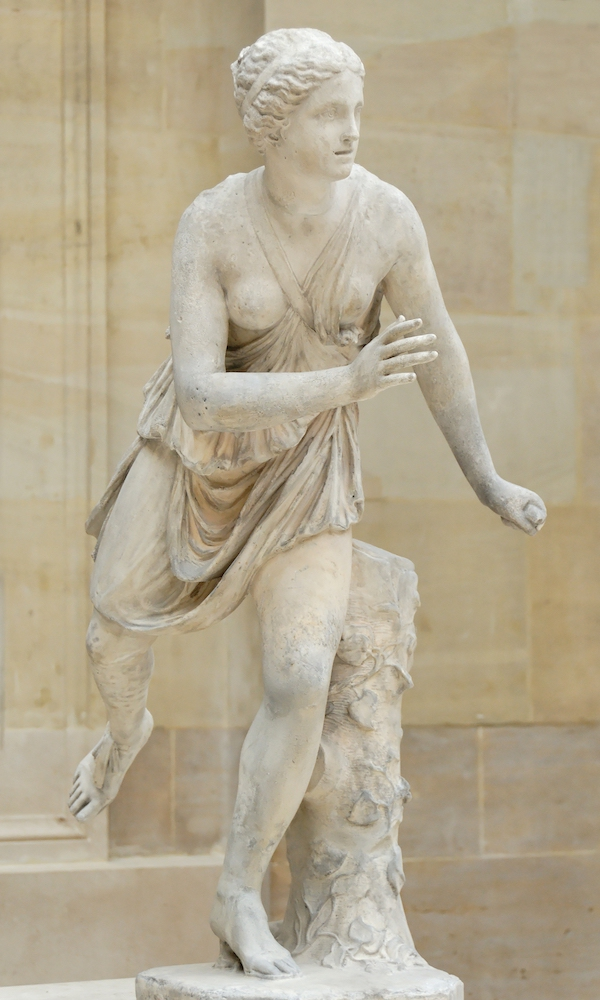 Statue of Atalanta at the Louvre in Paris