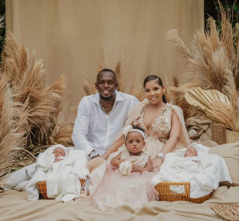 Usain Bolt and Family