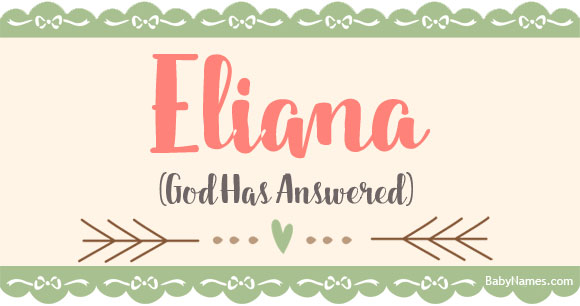 36+ Eliana meaning in the bible information