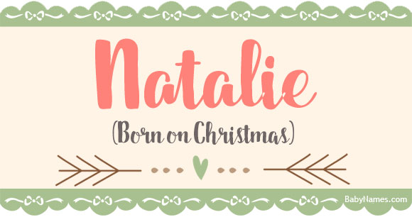 Meaning Of The Name Natalie - YouTube