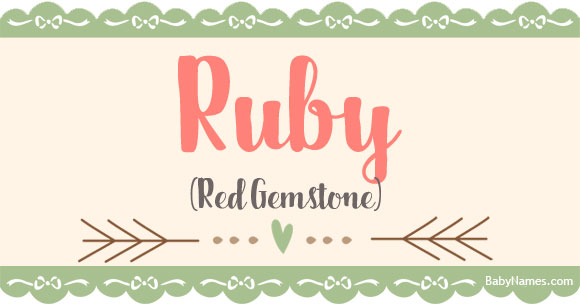 The Name Ruby Meaning Origin And Popularity Baby Names