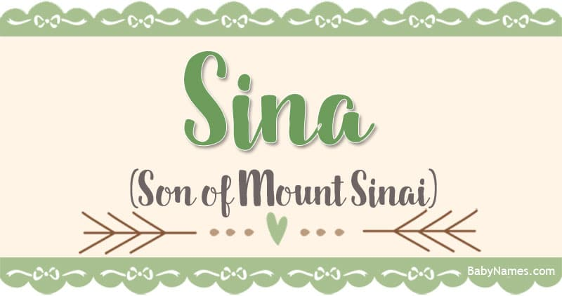 The Name Sina: Meaning, Origin, and Popularity - Baby Names