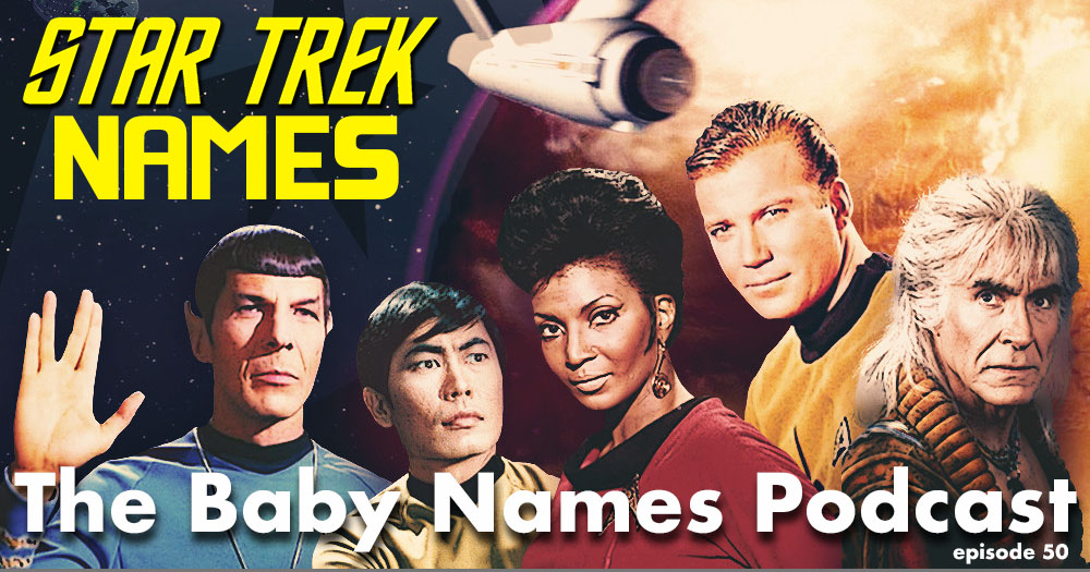 Star Trek Names - title chard with characters