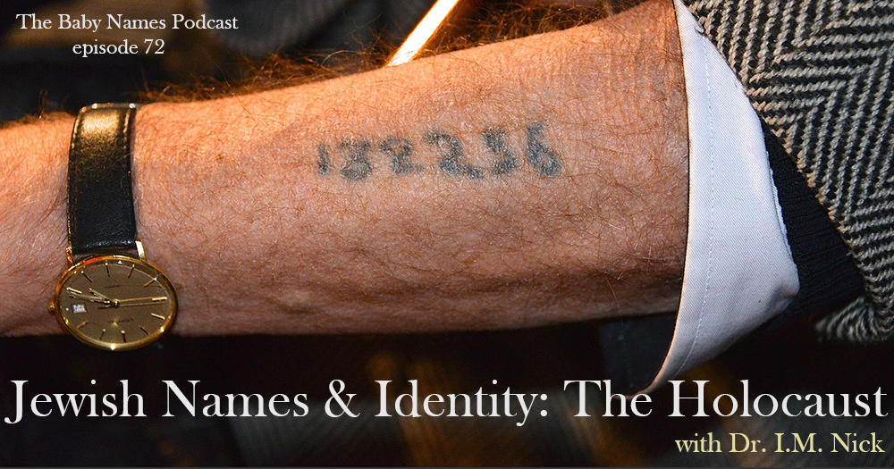 Man showing his concentration camp tattoo of a number on arm